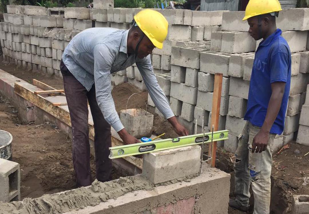 Stichting Diba Aids Congo bouw training