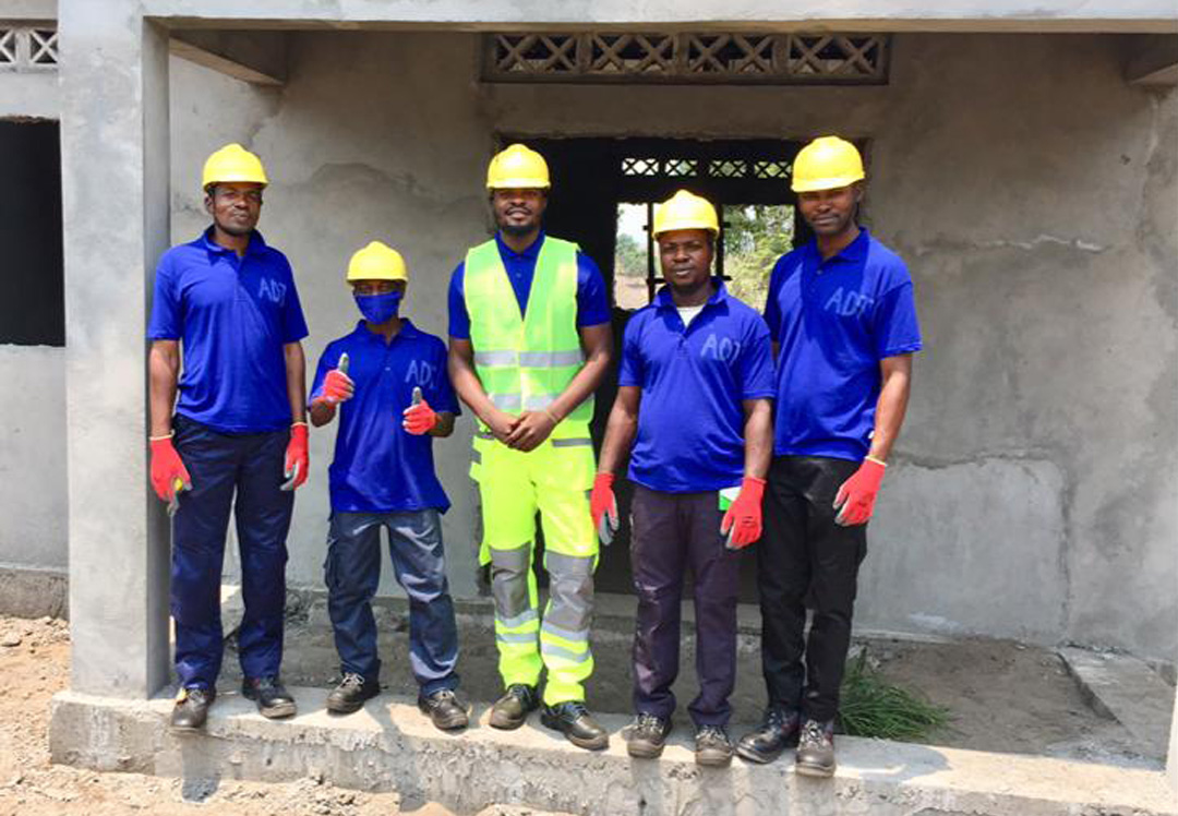 Stichting Diba Aids Congo team bouwtraining